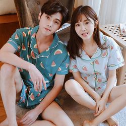 watermelon lovely couple pajamas
