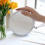 D.LAB Glue Pearl Pouch - White
