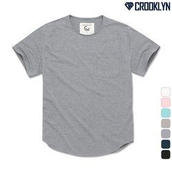 [크루클린] TRS-020 베이직 U라인 루즈핏 반팔 티셔츠