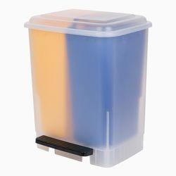 화플라나 2분할 페달 분리수거함 20L (옐로/블루)