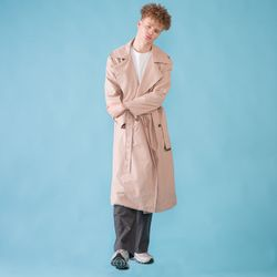 [DUCK DIVE]O.S.L TRENCH COAT  PINK BEIGE