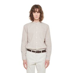 Reach stripe china shirt (Beige)