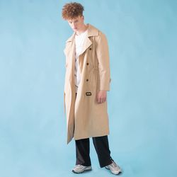 [DUCK DIVE]O.S.L TRENCH COAT  LIGHT BEIGE