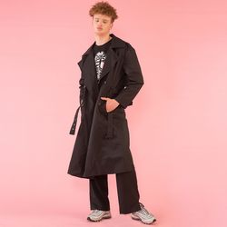[DUCK DIVE]O.S.L TRENCH COAT  BLACK
