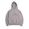 [DUCKDIVE]RECORD HOODIE  COOL GRAY