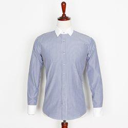 캐주얼 스트라이프 남자셔츠