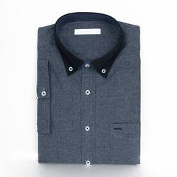 젠틀 투톤 남자 반팔 셔츠