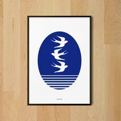인테리어 디자인 포스터 M 스왈로우즈 A3(중형)