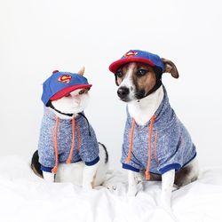 슈퍼맨 야구 썬캡 고양이 강아지 옷 모자  MIYOPET