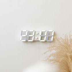 무아스 프리미엄 3D LED 벽시계 화이트