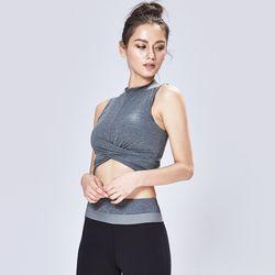 [TS7039 멜란지그레이]여성 서플렉스 반팔 요가복