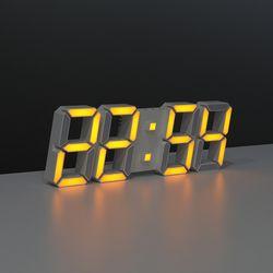 무아스 프리미엄 3D LED 벽시계 듀얼