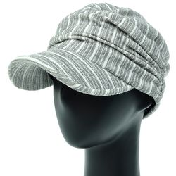 [플릭앤플록] [더그레이]DMS01.스트라이프 저지 워크캡 엄마 모자.