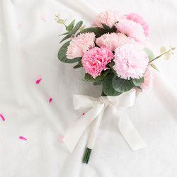 카네이션 리본 꽃다발