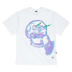SKULL OVERSIZED T-SHIRTS WHITE