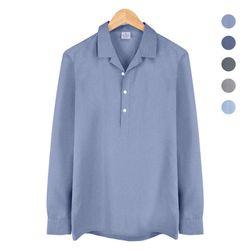 오픈 카라 반탁 보카시 블루 셔츠 NWM005Blue