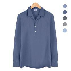 오픈 카라 반탁 보카시 다크블루 셔츠 NWM005DarkBlue