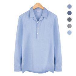 오픈 카라 반탁 보카시 블루 셔츠 NWM005LightBlue