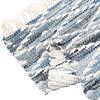SALVIO 러그(양면) 60x90cm 블루/화이트