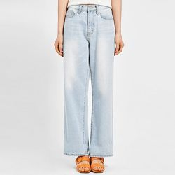 bright wide denim pants (s m)