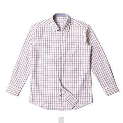 크로스 사각 체크 남자셔츠