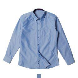 포켓 네이비 솔리드 남자셔츠