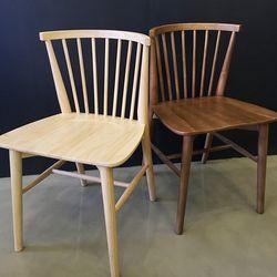 에클레어 고무나무 원목 식탁의자