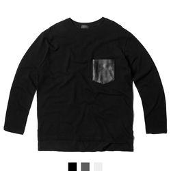 레자 포켓 남자티셔츠