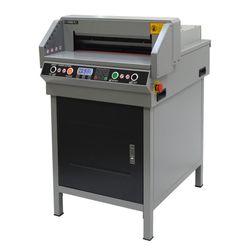전동 재단기 QN-460 자동압착 레이저표시 400매 대형