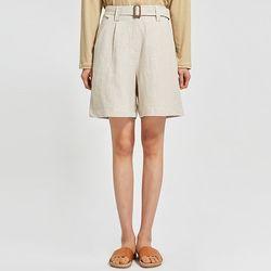brow linen half pants (s m)
