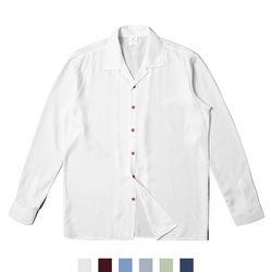 솔리드 루즈핏 파자마 남자셔츠