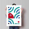 인테리어 디자인 포스터 M 싱싱한 바다 A3(중형)