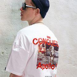 아폴로11 그래픽 프린트 반팔티 화이트