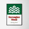 일본 디자인 포스터 M 노르웨이숲 하루키 A3(중형)
