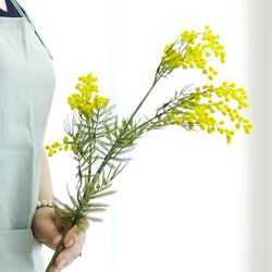 조화 옐로우 미모사 1대 단품