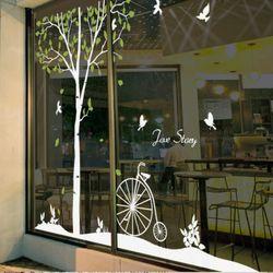 ps244-자작나무의자전거그래픽스티커