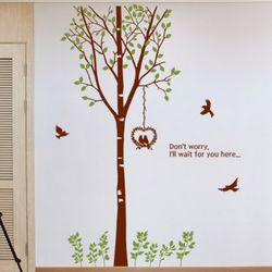 pc155-봄날의자작나무그래픽스티커