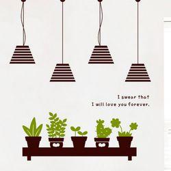 im725-모던전등과초록화분그래픽스티커