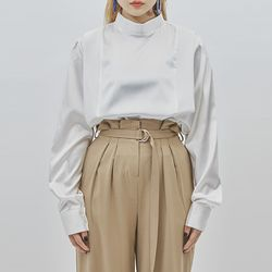 stack satin blouse (2 color)