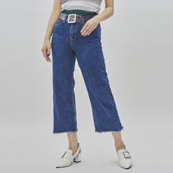 crop semi boots-cut denim pant (2 color)