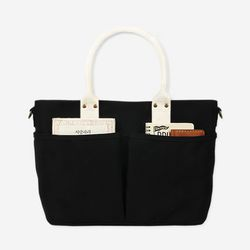 아띠백 - 4 Pocket 3 Way Bag Oxford (Black Ivory)