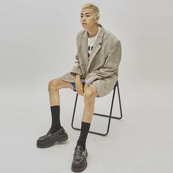 classy check jacket - UNISEX