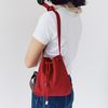 mini bucket bag - red color
