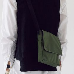 active daily square bag - olive color