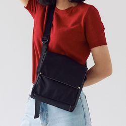 active daily square bag - black color