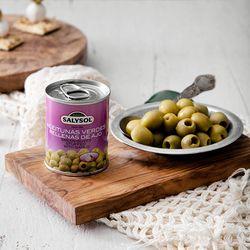[SALYSOL] 그린올리브와 마늘 (캔)
