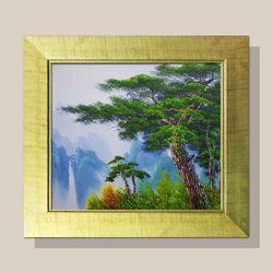 풍수지리그림 인테리어 그림액자 화가그림 건승소나무