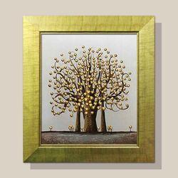 풍수지리그림 인테리어 돈들어오는 그림액자 황금나무