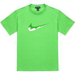 트립션 초록 밴딩 치약 티셔츠 - 라임