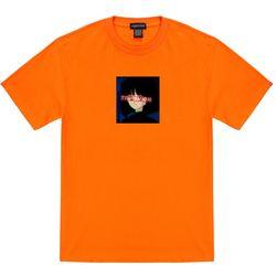 트립션 걸 스퀘어 티셔츠 - 오렌지